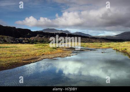 Thingvellir national park in Iceland - Stock Image