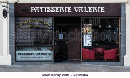 The closed central Peterborough, branch of Patisserie Valerie on Feb 7th, 2019, after the company had entered administration in late January. - Stock Image