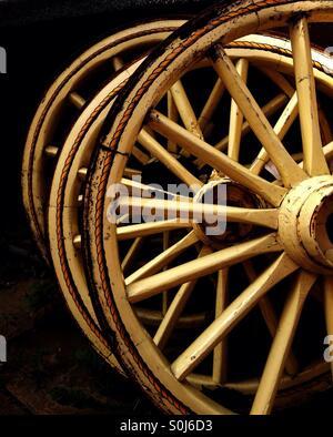 Wagon Wheels - Stock Image