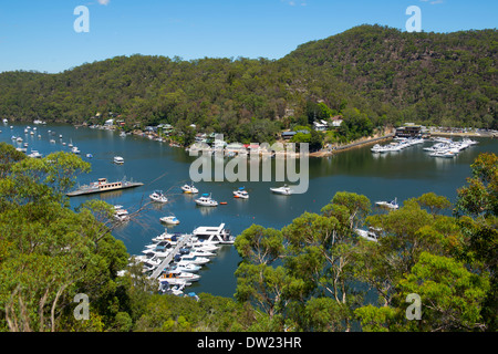 Berowra Waters Ferry crossing Berowra Creek  New South Wales Australia - Stock Image