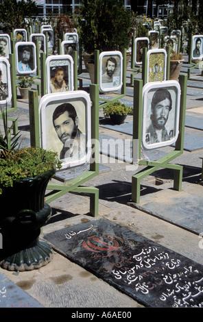 Iran Esfahan War graves from Iran Iraq war - Stock Image
