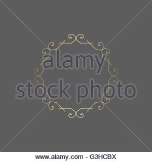 Ornate golden vector ornament for decoration. - Stock Image