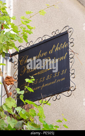 France Chambre d'hote sign, Bergerac, Dordogne France - Stock Image