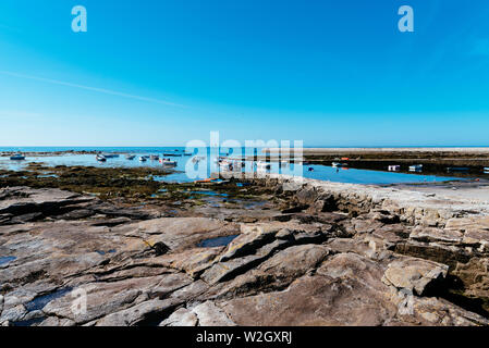 Penmarch, France - August 2, 2018: Scenic view of the harbour of Point Penmarch. - Stock Image