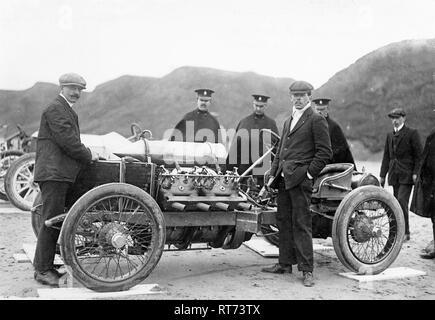 Darracq 200hp V8 1909 Saltburn - Stock Image