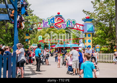 kidzville is a framily friendly area full of rides and activites for kids inside canada's wonderland - Stock Image
