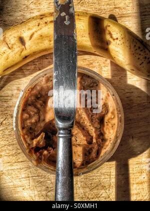 Peanut butter and banana - Stock Image