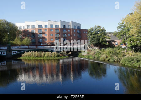 Kelham weir on the River Don Sheffield England UK - Stock Image