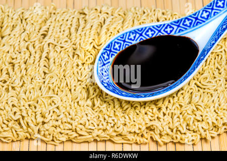 Raw Chinese Noodles - Stock Image