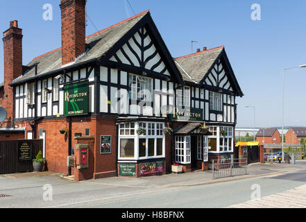 The Rivington pub and grill restaurant, formerly The Ridgeway Arms, on Station Road in Blackrod, near Bolton, Lancashire. - Stock Image