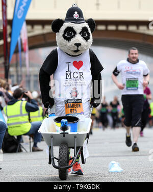 during the Simply Health Manchester Run. - Stock Image