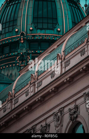 Visiting Prague most beautiful European cities cities since the Middle Ages city of 100 towers, Rooftop of Europe' 'Heart of Europe, Czech Republic - Stock Image