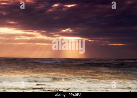 Sunset in Kimmeridge, Dorset - Stock Image