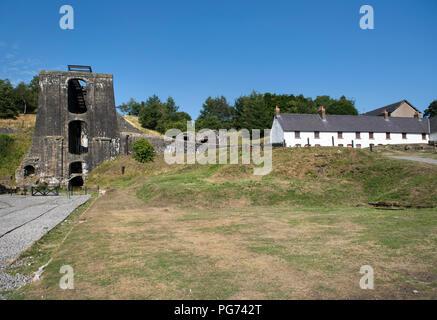 Buildings inside the historic Blaenavon Ironworks museum, part of the Blaenavon UNESCO World Heritage Site in Wales, UK - Stock Image