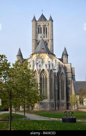 St Bavo cathedral in the Belgian city of Ghent - Stock Image