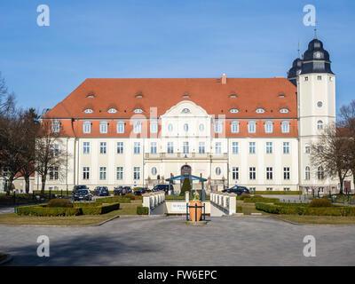 Hotel, castle Flesensee, Mueritz, Mecklenburg-Vorpommern, Germany - Stock Image