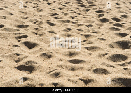 full frame image of beach sand. concept of holiday and nature background - Stock Image