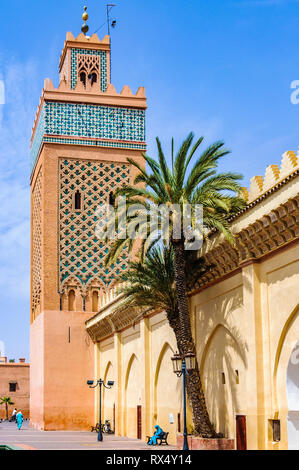 Moulay El yazid Mosque in the Medina of Marrakech, Morocco - Stock Image