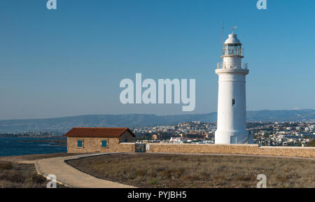 Paphos lighthouse cyprus - Stock Image