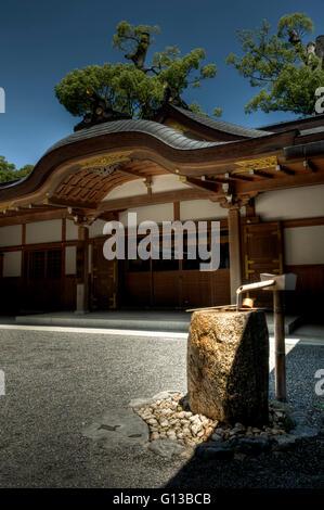 Shinto shrine at Ise Jingu complex, Japan - Stock Image