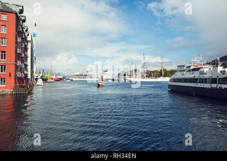 Boats in port - Stock Image