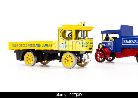 Matchbox Models of Yesteryear Foden and Atkinson Steam Wagons - Stock Image