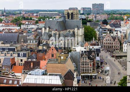 Ghent Historical Buildings Belgium - Stock Image