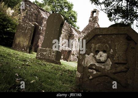Gravestones - Stock Image