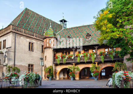 Ancienne Douane, also known as Koifhus, is a Gothic and Renaissance building in Colmar, France. - Stock Image