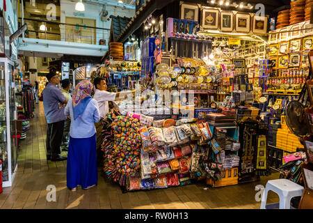 Central Market, Souvenir Handicrafts Shop, Kuala Lumpur, Malaysia. - Stock Image