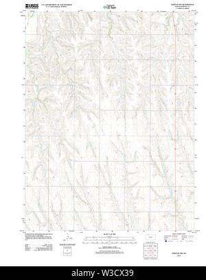 USGS TOPO Map Kansas KS Norton NW 20120905 TM Restoration - Stock Image