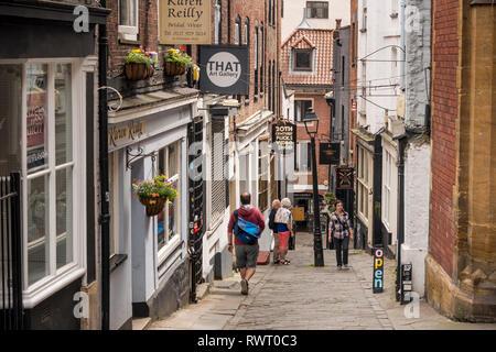 Street scene of Christmas Steps, Bristol, UK - Stock Image