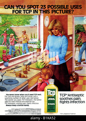 1978 Advertisement for TCP Home Antiseptic 1970s FOR EDITORIAL USE ONLY - Stock Image