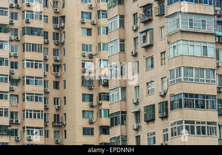Apartment buildings in Beijing, China - Stock Image