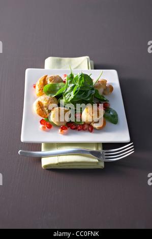 Scallops Salad - Stock Image