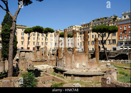 italy, rome, area sacra of largo di torre argentina, temple B (2nd century BC) - Stock Image