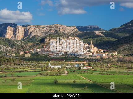 Spain, Teruel Province, Peñarroya de Tastavins City - Stock Image