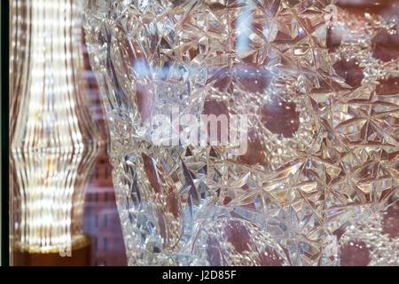 Czech Republic, Nizbor. Close-up of cut crystal patterns. Credit as: Wendy Kaveney / Jaynes Gallery / DanitaDelimont.com - Stock Image