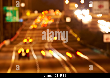 Freeway traffic - abstract - Stock Image