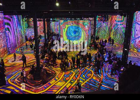 France, Paris (75), gustav klimt digital art exhibition at the atélier des Lumières - Stock Image