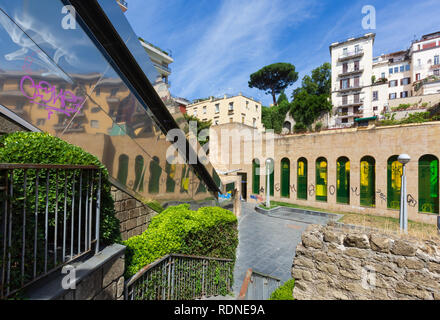Naples (Italy) - 'Metro dell'arte' is the urban railways line 1, an attraction with its stations and artistic artworks. Salvator Rosa station - Stock Image