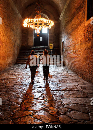 Passage leading to stairs in the historic Hagia Sofia (Ayasofya), first a church, then a mosque, now a museum. Istanbul, - Stock Image