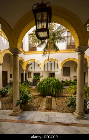 Andalusian style Patio, Seville, Andalusia, Spain. - Stock Image