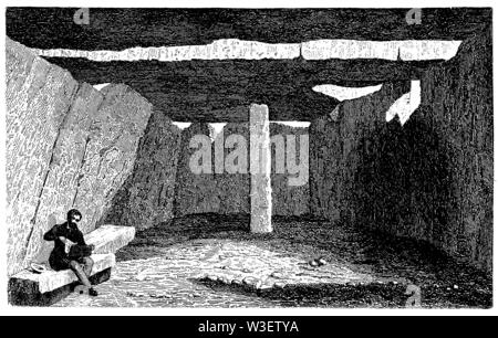 Fairy grotto at Saumur, ,  (cultural history book, 1875) - Stock Image