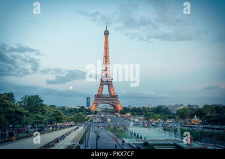 Eiffel Tower at Trocadero - Stock Image