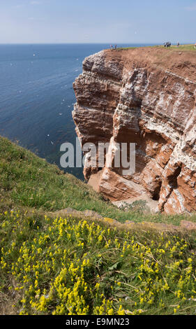 Helgoland German island with red sandstone cliffs. - Stock Image