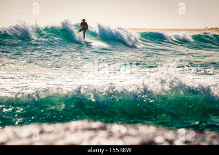 Surfing at Margaret River - Stock Image