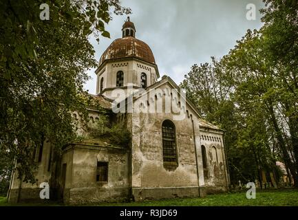 Old church in Oleszyce, Poland - Stock Image