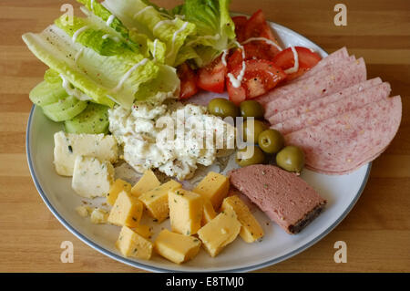 Healthy salad lunch - Stock Image