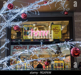 The Liverpool branch of HMV during the Christmas period 2018. - Stock Image